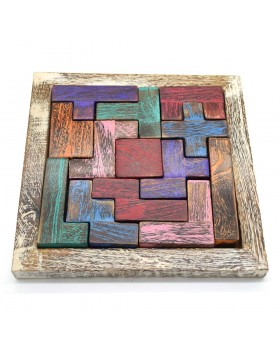 Piece-It-Together Wood Game-Colorful